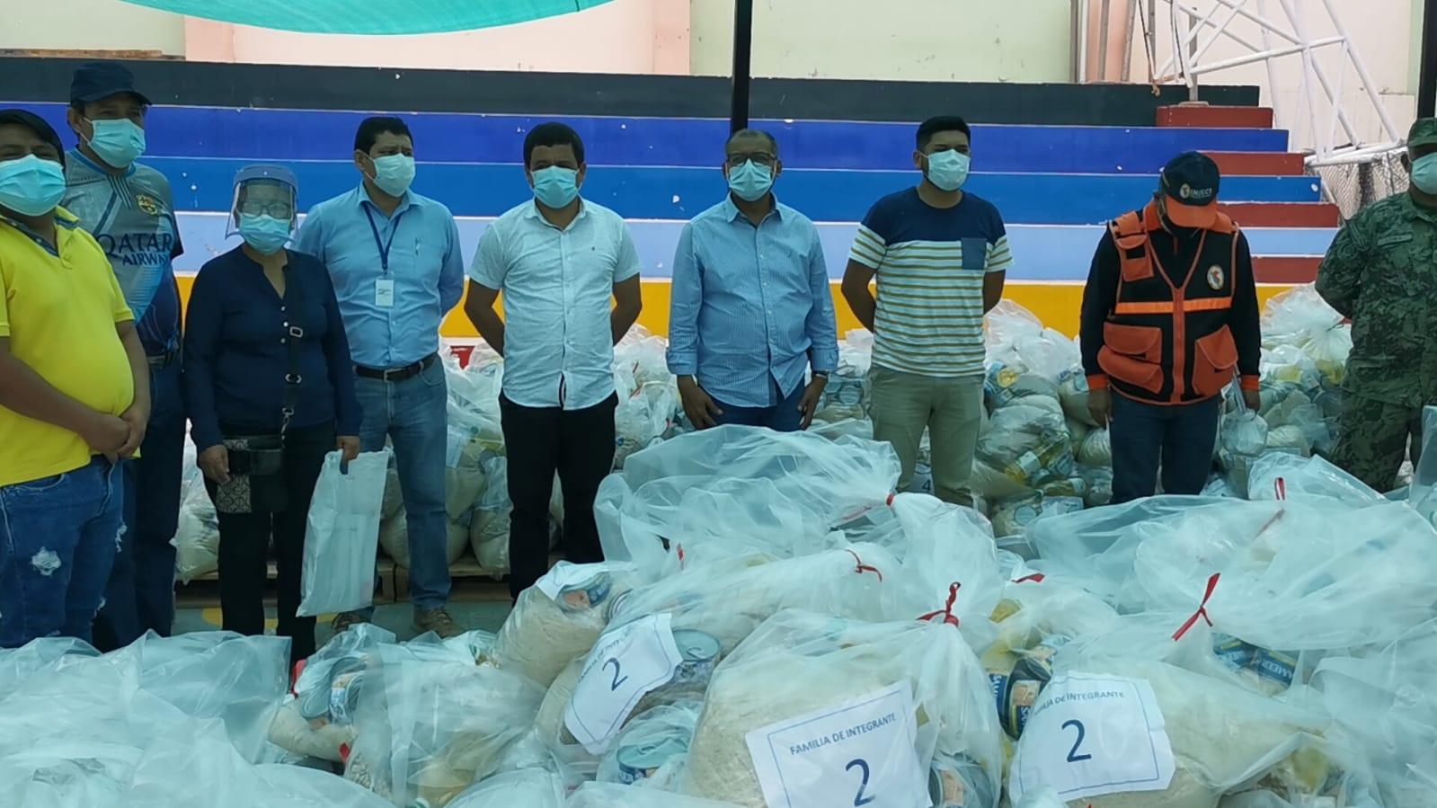 Gobierno Regional entrega de 8 toneladas y media de alimentos a moradores de la provincia de Zarumilla