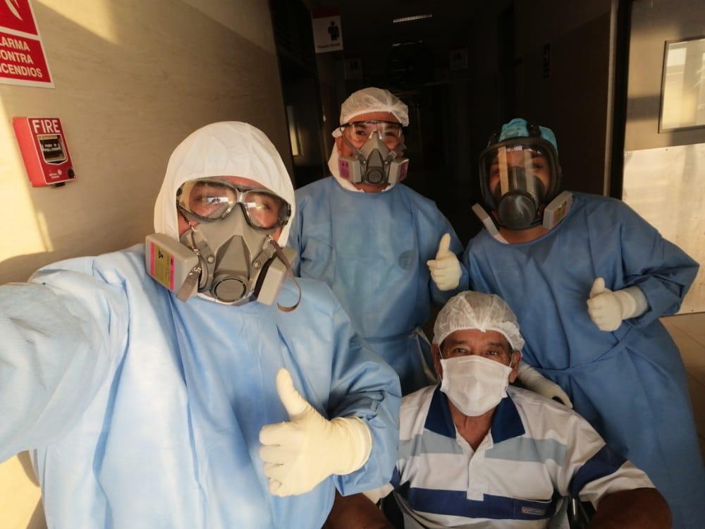 Paciente de 60 años logra alta de UCI Covid en el hospital regional de Tumbes