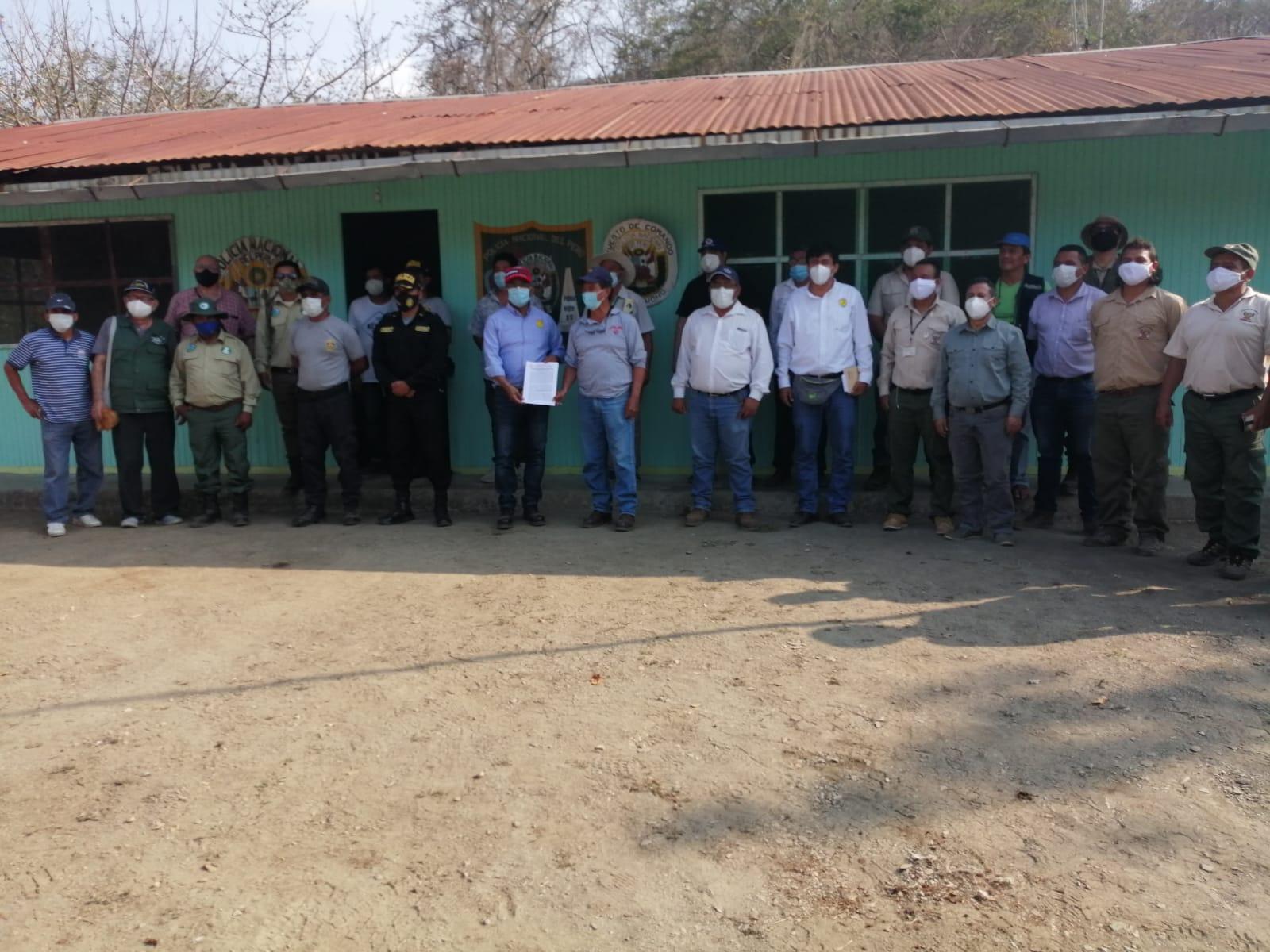 Gobierno regional presenta proyecto servicio de control y vigilancia en el Área de Conservación Angostura Faical