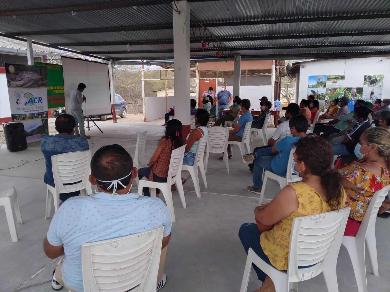 Gobierno regional sensibiliza a beneficiarios del Área de Conservación Angostura Faical