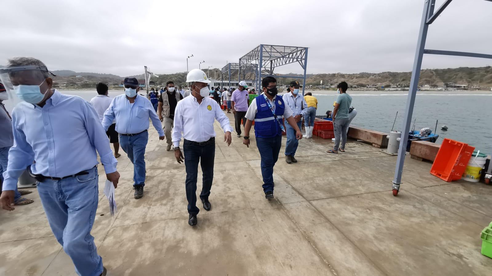 Gobernador regional anuncia pronta inauguración del desembarcadero de Acapulco, cuya inversión supera los 17 millones de soles
