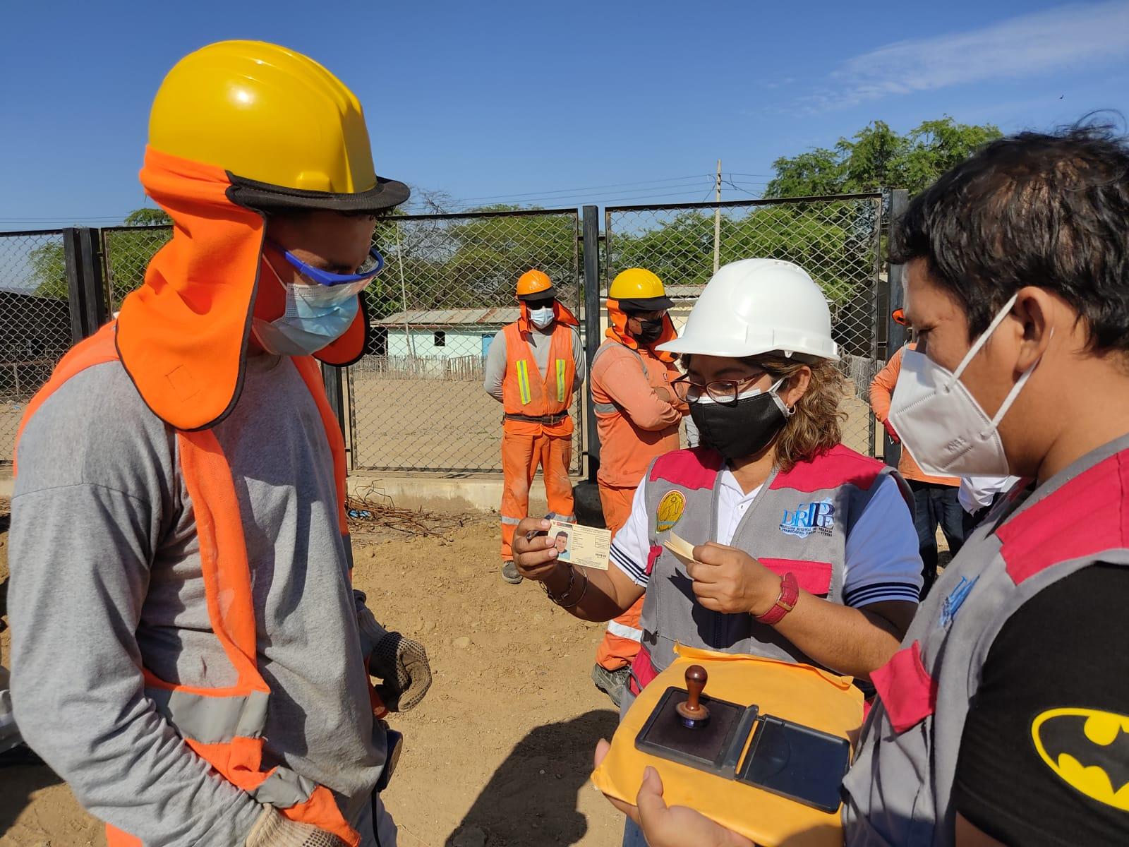 Gobierno regional lidera operativo preventivo a obras de construcción civil