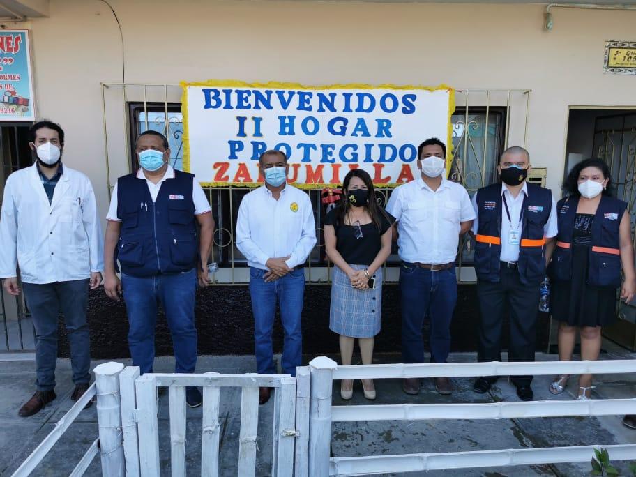Gobernador regional inaugura II hogar protegido en la provincia de Zarumilla