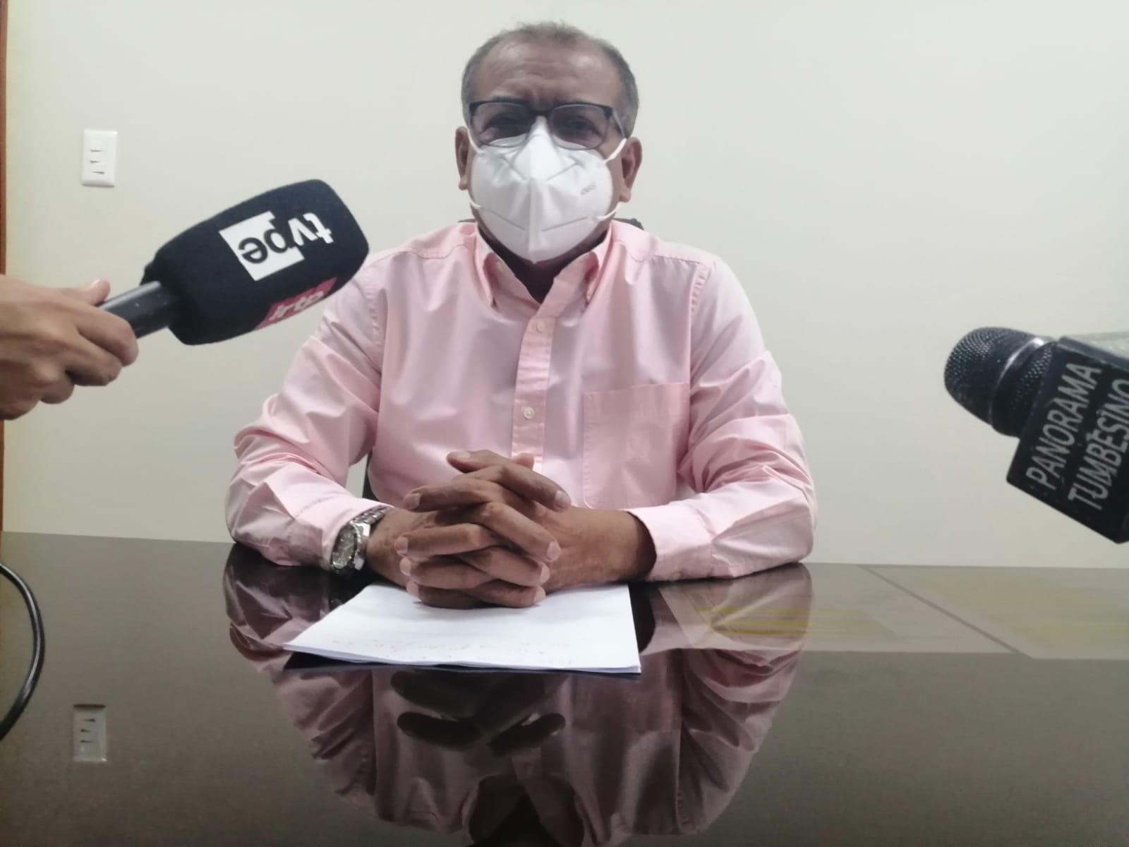 Gobernador regional anuncia vacunatón en Tumbes con 9300 dosis de Pfizer para mayores de 50 años