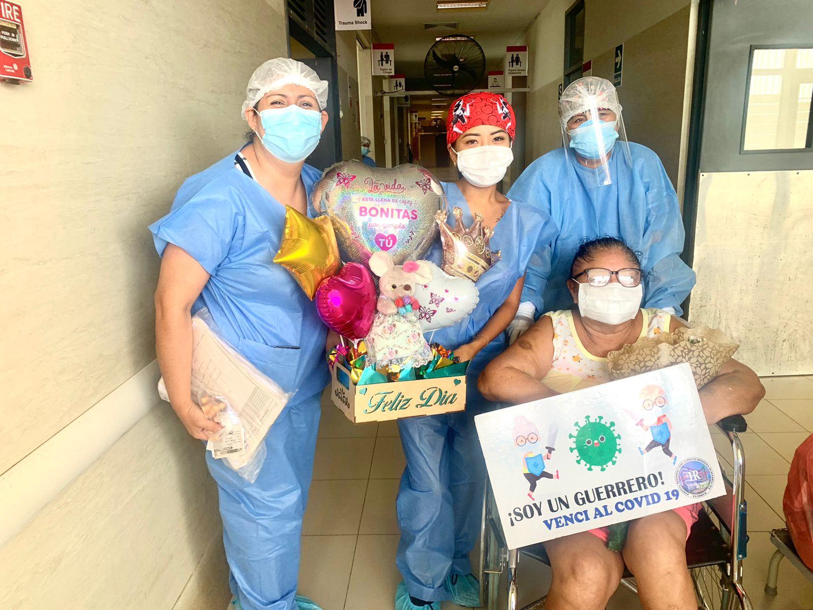 Tres pacientes más se recuperan en el área covid del hospital regional JAMO de Tumbes
