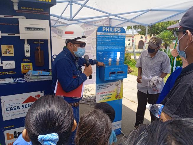 Gobierno Regional conmemora el día mundial del ahorro de energía en el distrito de Matapalo